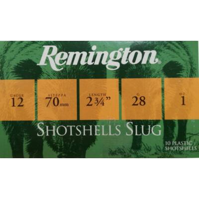 Remington Shotshells 12/70 Slug 28g gyöngygolyó lőszer
