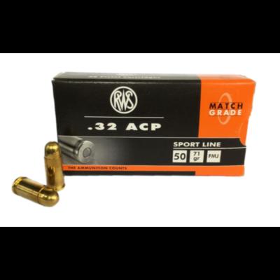 RWS .32 ACP FMJ 70 grs pisztoly lőszer