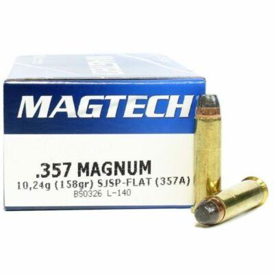 Magtech 357 Mag SJSP Flat w/o nickel lőszer - 158 gr