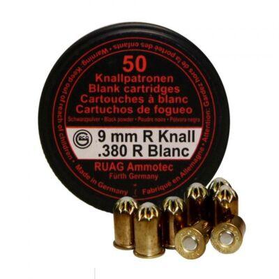 Geco 9mm R Knall feketelőporos riasztó töltény