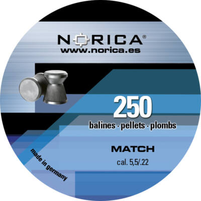 Norica Match 5.5mm léglövedék (250db)