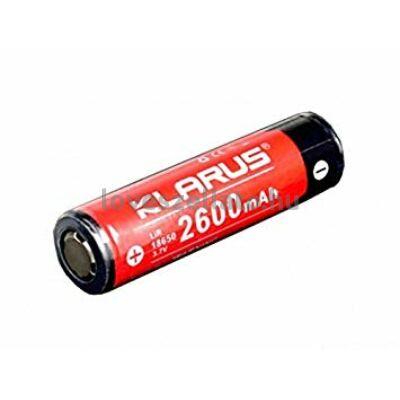 Klarus 3.7V 18650 akkumulátor - 2600 mAh